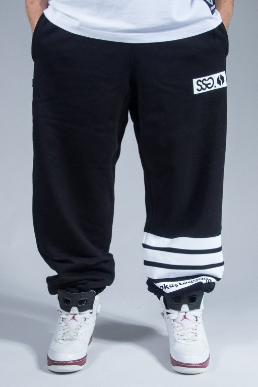 SSG SWEATPANTS LINES BAGGY BLACK