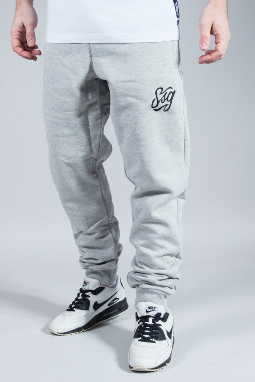SSG SWEATPANTS SLIM TAG MELANGE