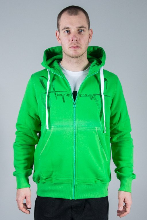 STOPROCENT BLUZA Z KAPTUREM TAG MS15 GREEN
