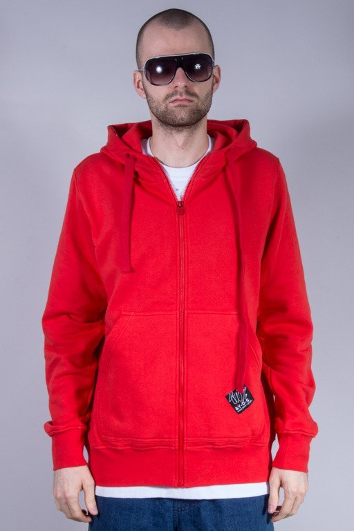 STOPROCENT BLUZA Z KAPTUREM ZIP HOODTAG 16 RED