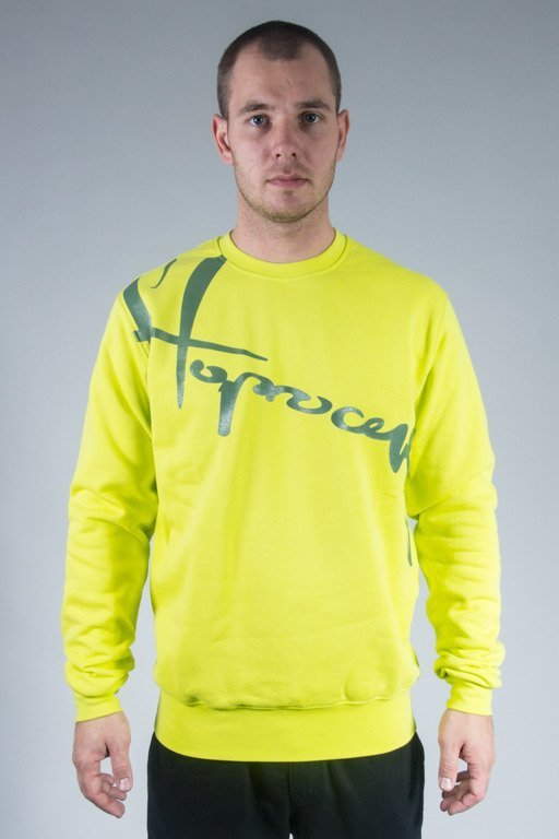 STOPROCENT CREWNECK DOWNHILL16 TOXIC YELLOW