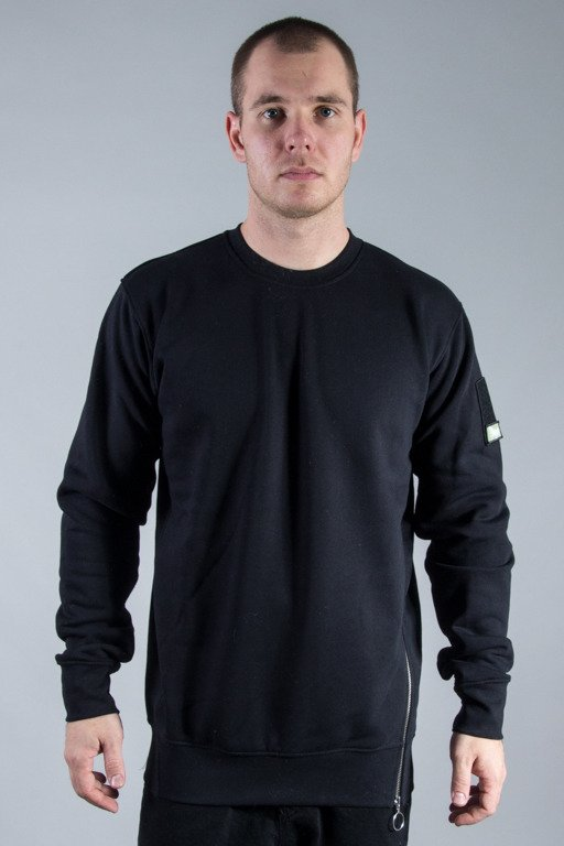 STOPROCENT CREWNECK SIDEZIP BLACK