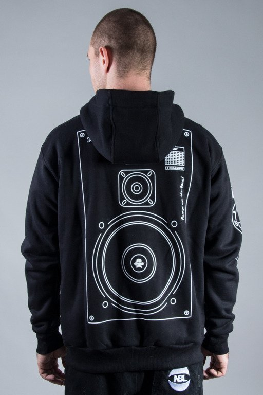 STOPROCENT HOODIE ZIP BASS BLACK