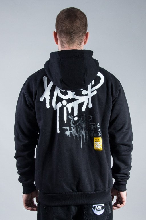 STOPROCENT HOODIE ZIP KEEP IT BLACK