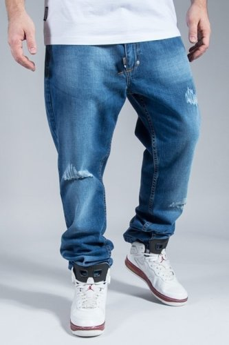 STOPROCENT JEANS TORN REGULAR BLUE