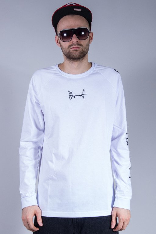 STOPROCENT LONGSLEEVE CROSS WHITE
