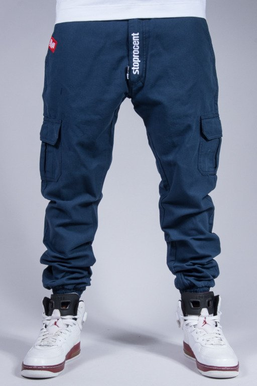 STOPROCENT PANTS CHINO JOGGER ARMY  BLUE