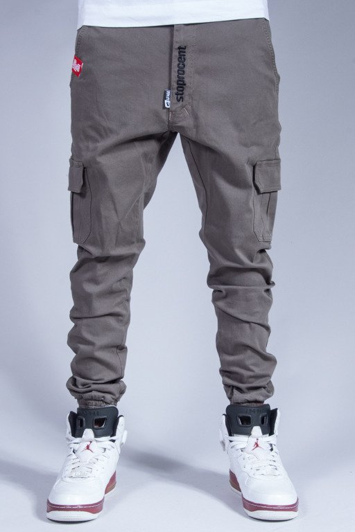 STOPROCENT PANTS CHINO JOGGER ARMY KHAKI