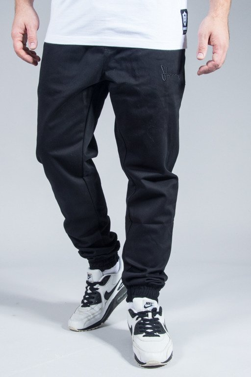 STOPROCENT PANTS CHINO JOGGER CLASSIC16 BLACK
