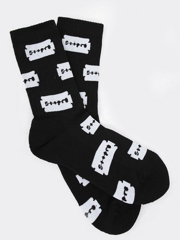STOPROCENT SOCKS LONG RAZOR BLACK