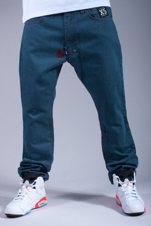 STOPROCENT SPODNIE JEANS RIO AXIS GREY-BRICK