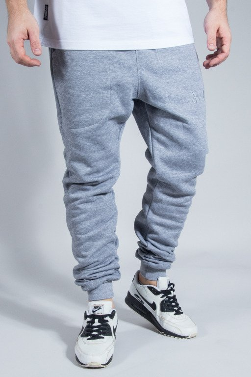 STOPROCENT SWEATPANTS COWBOY POCKETAG GREY