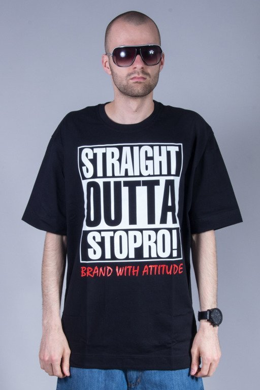 STOPROCENT T-SHIRT STRAIGHT2 BLACK