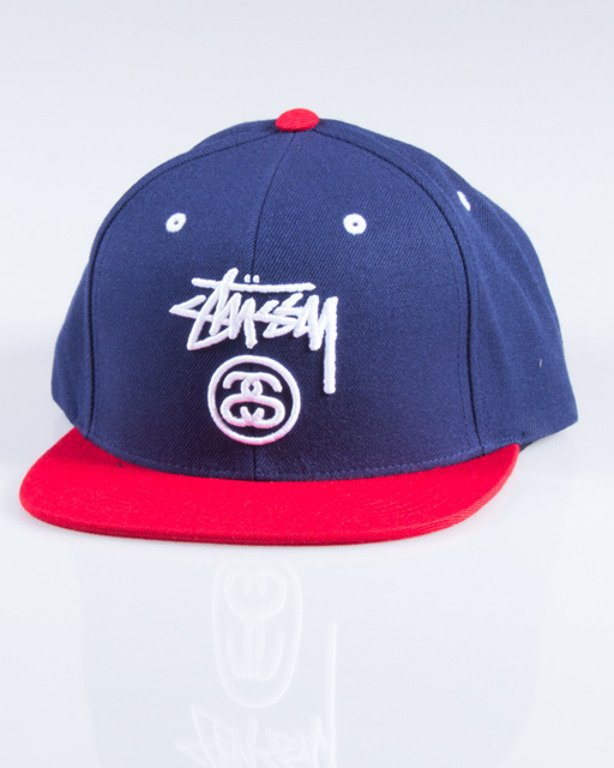STUSSY CZAPKA SNAPBACK STOCK LOCK NAVY-RED