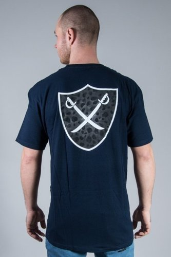 THE HUNDREDS KOSZULKA MIXED SHIELD NAVY