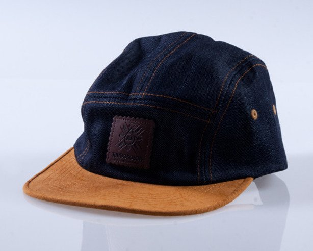 TURBOKOLOR CZAPKA 5PANEL DENIM-BROWN