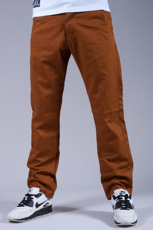 TURBOKOLOR SPODNIE FW14 CHINOS SLIM FIT BROWN