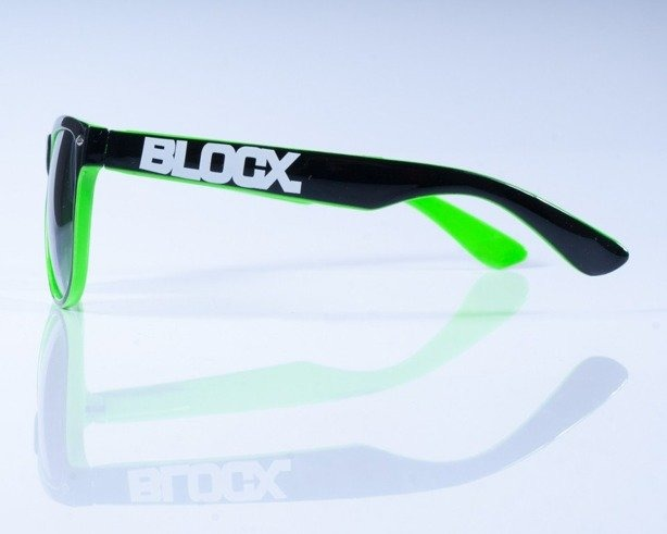 BLOCK OKULARY OUT BLACK GREEN