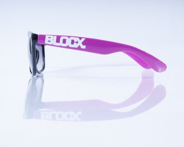 BLOCX OKULARY BLOCX BLACK-PURPLE