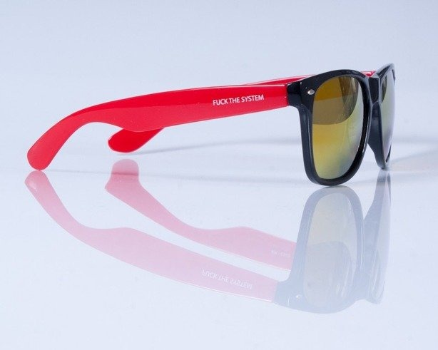 BLOCX OKULARY BLOCX BLACK RED COL