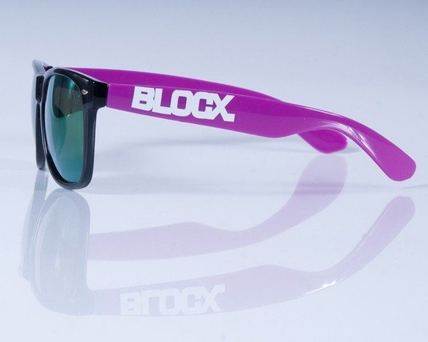 BLOCX OKULARY BLOCX BLACK VIOLET COL