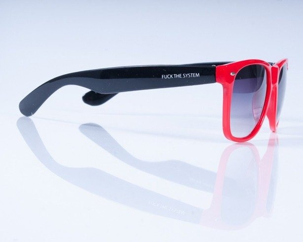 BLOCX OKULARY CLASSIC RED-BLACK
