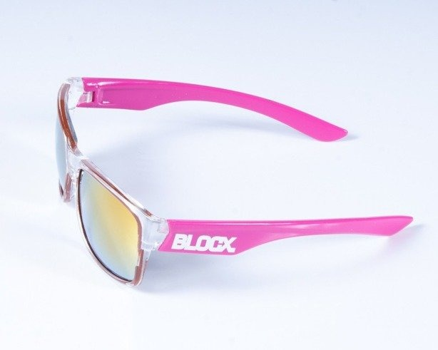 BLOCX OKULARY SHARK CLEAR X PINK