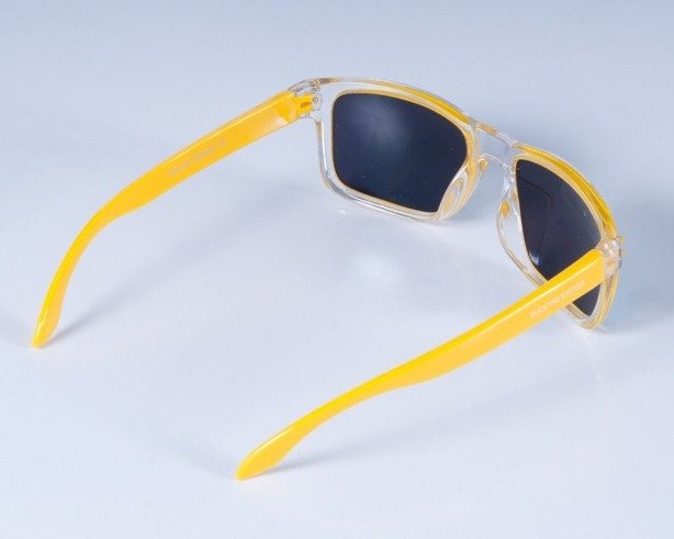 BLOCX OKULARY SQUARE CLEAR YELLOW COL