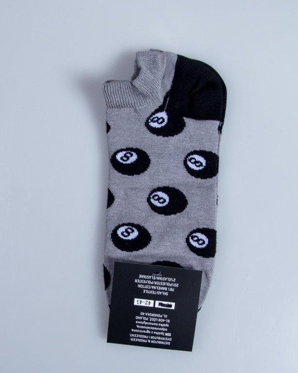 BLUD SOCKS NO SHOW  8 BALL GREY