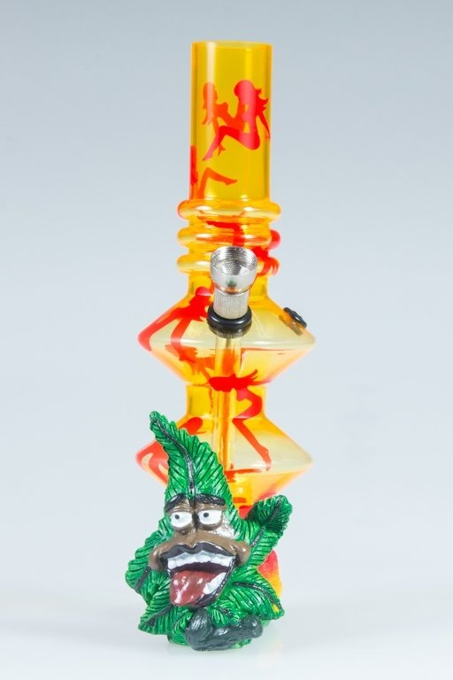 BONGO AKRYLOWE RASTA GANJA LADY TWICE YELLOW-RED