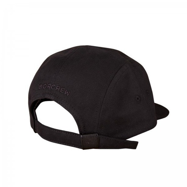 BOR CAP 5PANEL BLACK