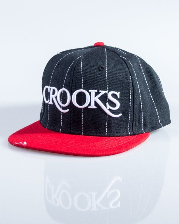 CROOKS&CASTLES CZAPKA SNAPBACK SERIF CROOKS BLACK-RED