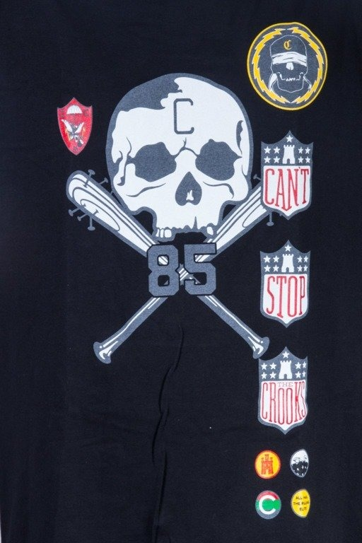 CROOKS&CASTLES KOSZULKA BADGES BLACK