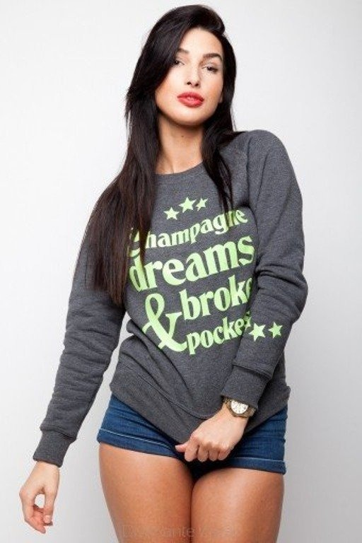 DIAMANTE CHICKS BLUZA CHAMPAGNE DREAMS GREY