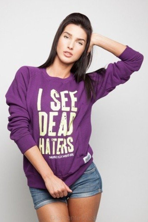DIAMANTE CHICKS BLUZA I SEE DEAD HATERS VIOLET