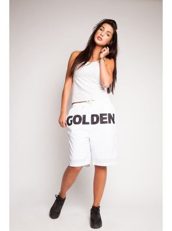 DIAMANTE CHICKS SPODENKI KRÓTKIE BASEBALL GOLDEN CHILD WHITE