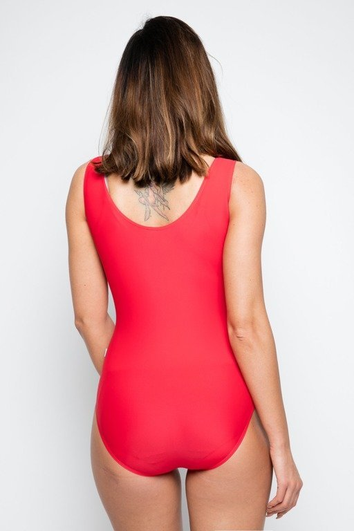 DIAMANTE CHICKS SWIMSUIT RED