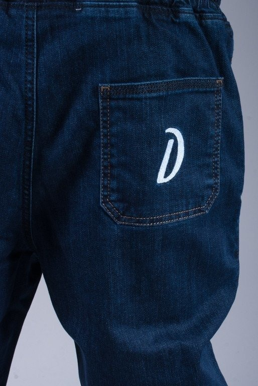 DIAMANTE SPODNIE JEANS JOGGER DARK BLUE