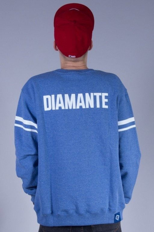 DIAMANTE WEAR BLUZA BEZ KAPTURA D-STRIPES 2 BLUE