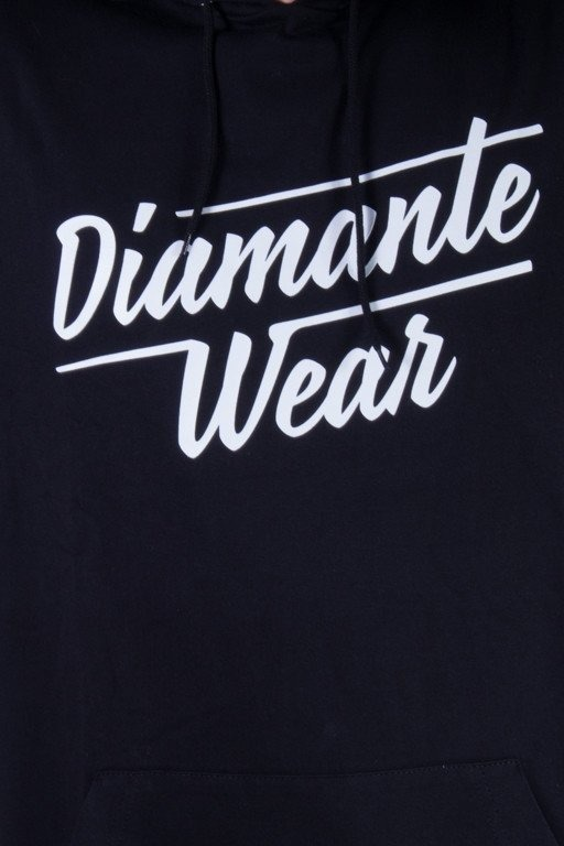 DIAMANTE WEAR BLUZA Z KAPTUREM LIGHT LOGO BLACK
