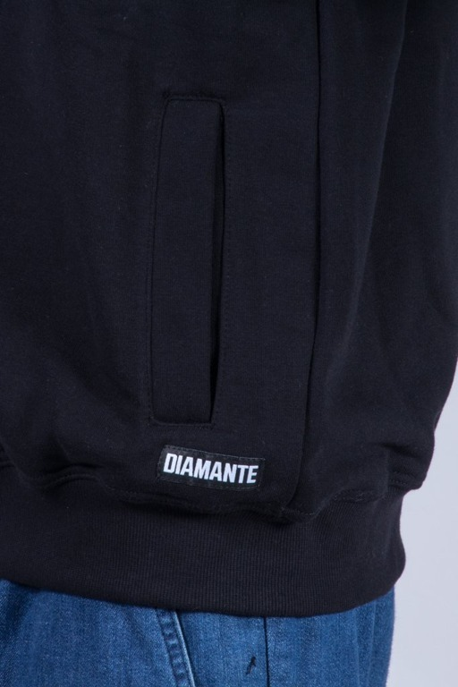 DIAMANTE WEAR HOODIE BORN SMOKERS BLACK