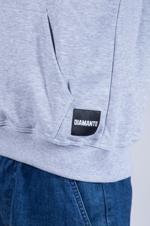 DIAMANTE WEAR HOODIE KNOWLEDGE MELANGE