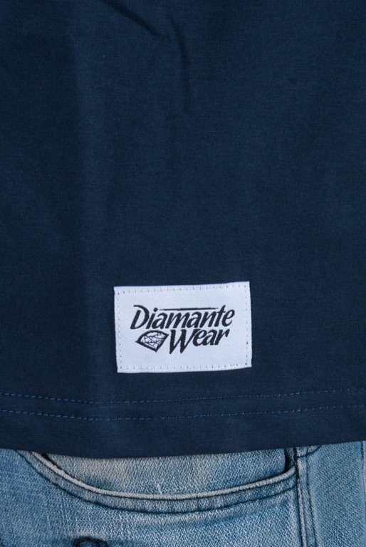 DIAMANTE WEAR KOSZULKA CHAMPAGNE NAVY BLU