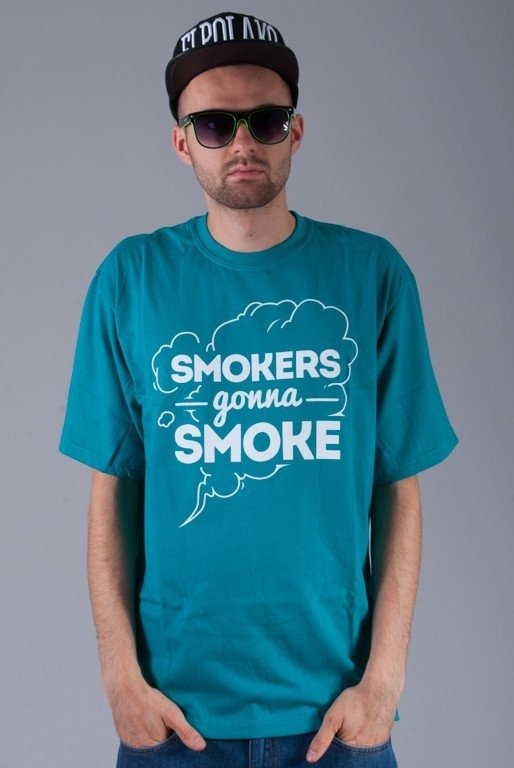 DIAMANTE WEAR KOSZULKA SMOKERS GONNA SMOKE MINT
