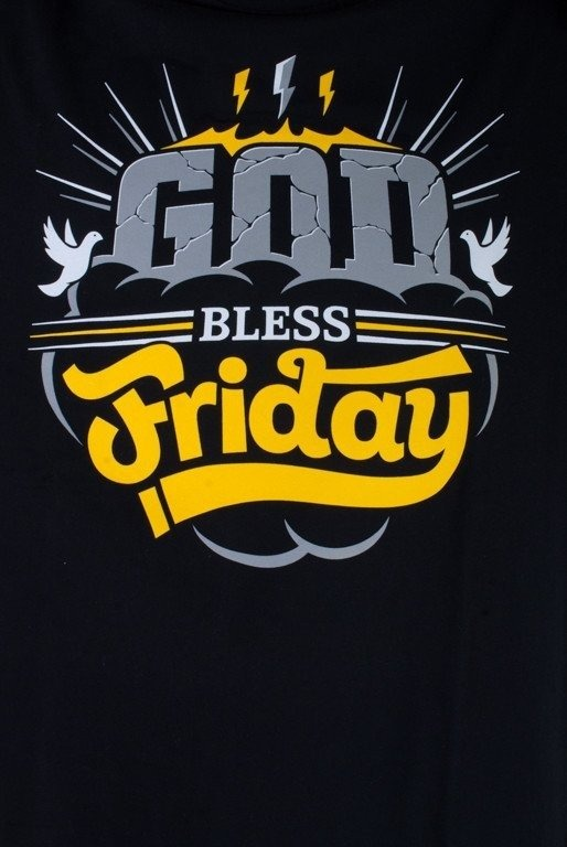 DIAMANTE WEAR LONGSLEEVE GOD BLESS FRIDAY BLACK