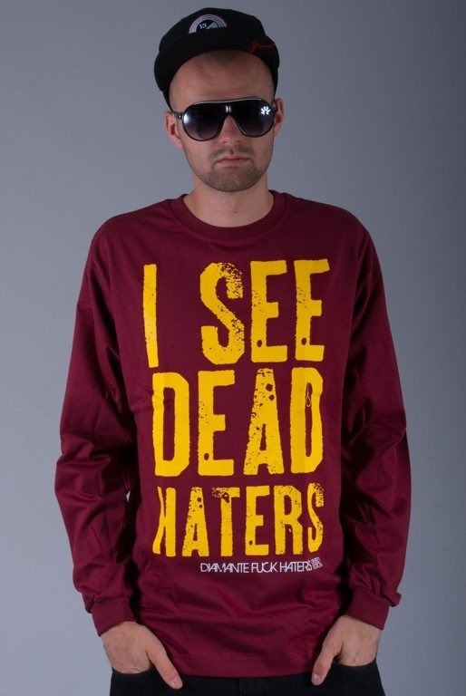 DIAMANTE WEAR LONGSLEEVE I SEE DEAD HATERS BRICK