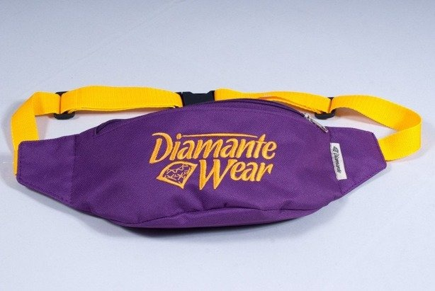 DIAMANTE WEAR SASZETKA NERKA BIG LOGO VIOLET-YELLOW