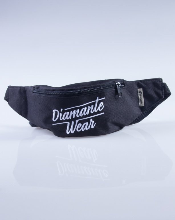 DIAMANTE WEAR SASZETKA NERKA DIAMANTE LOGO BIG BLACK-WHITE