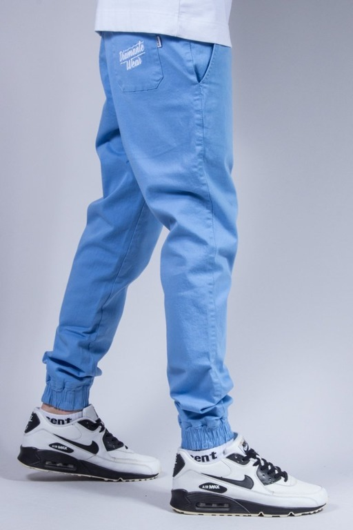 DIAMANTE WEAR SPODNIE CHINO JOGGER NEW BLUE
