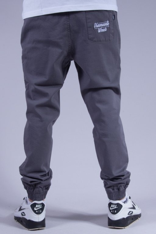 DIAMANTE WEAR SPODNIE CHINO JOGGER NEW GREY